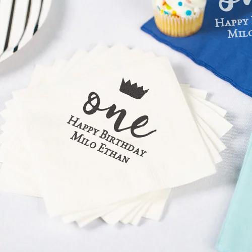 Personalized Birthday Party Napkins