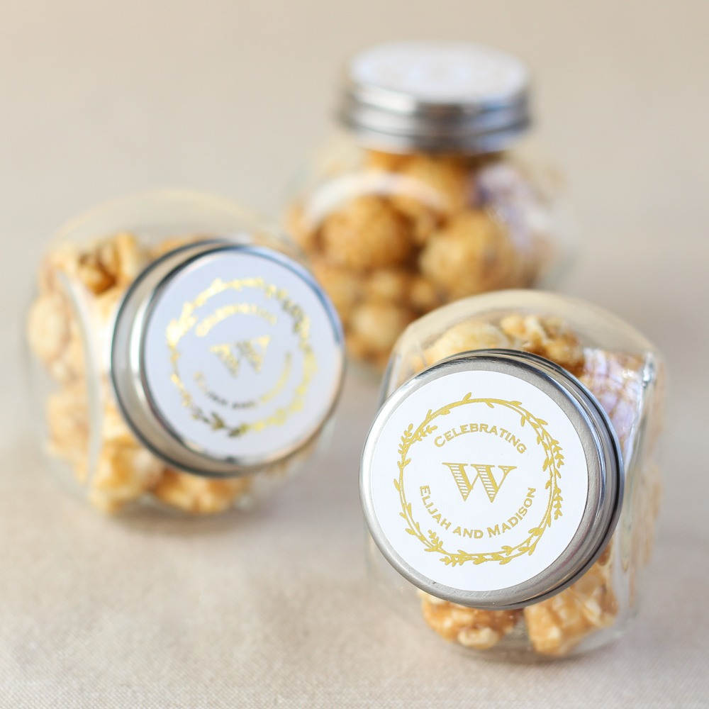 Personalized Metallic Foil Candy Jars 7167
