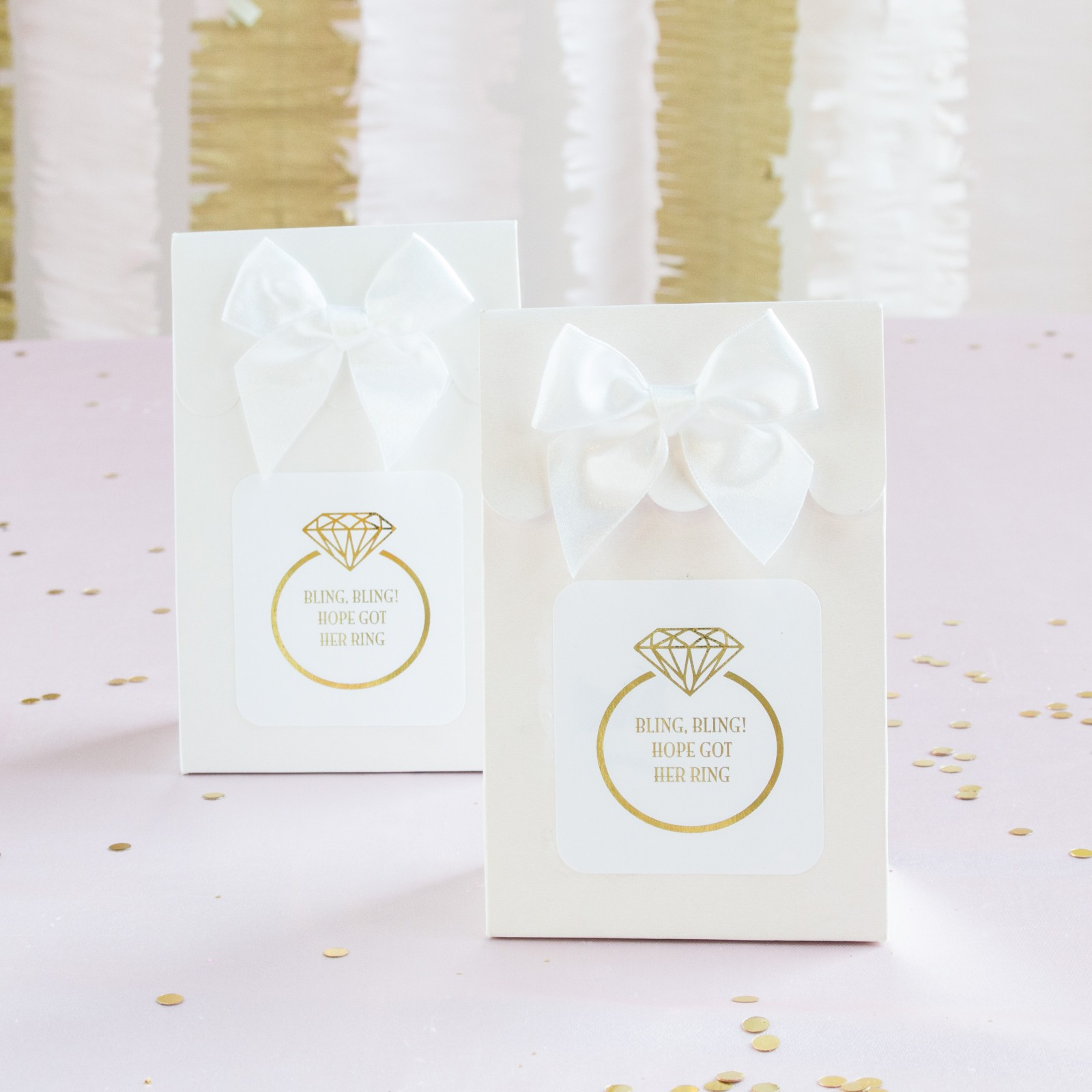 Personalized Ring Metallic Foil Candy Bags