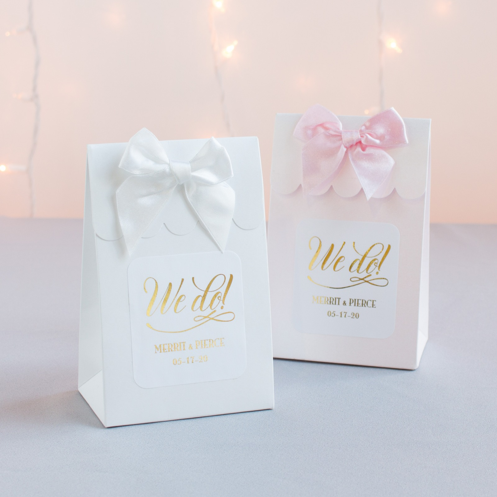 Personalized We Do Metallic Foil Candy Bags