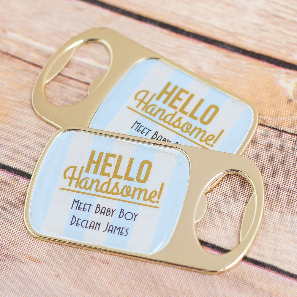 Personalized Hello Handsome Bottle Opener