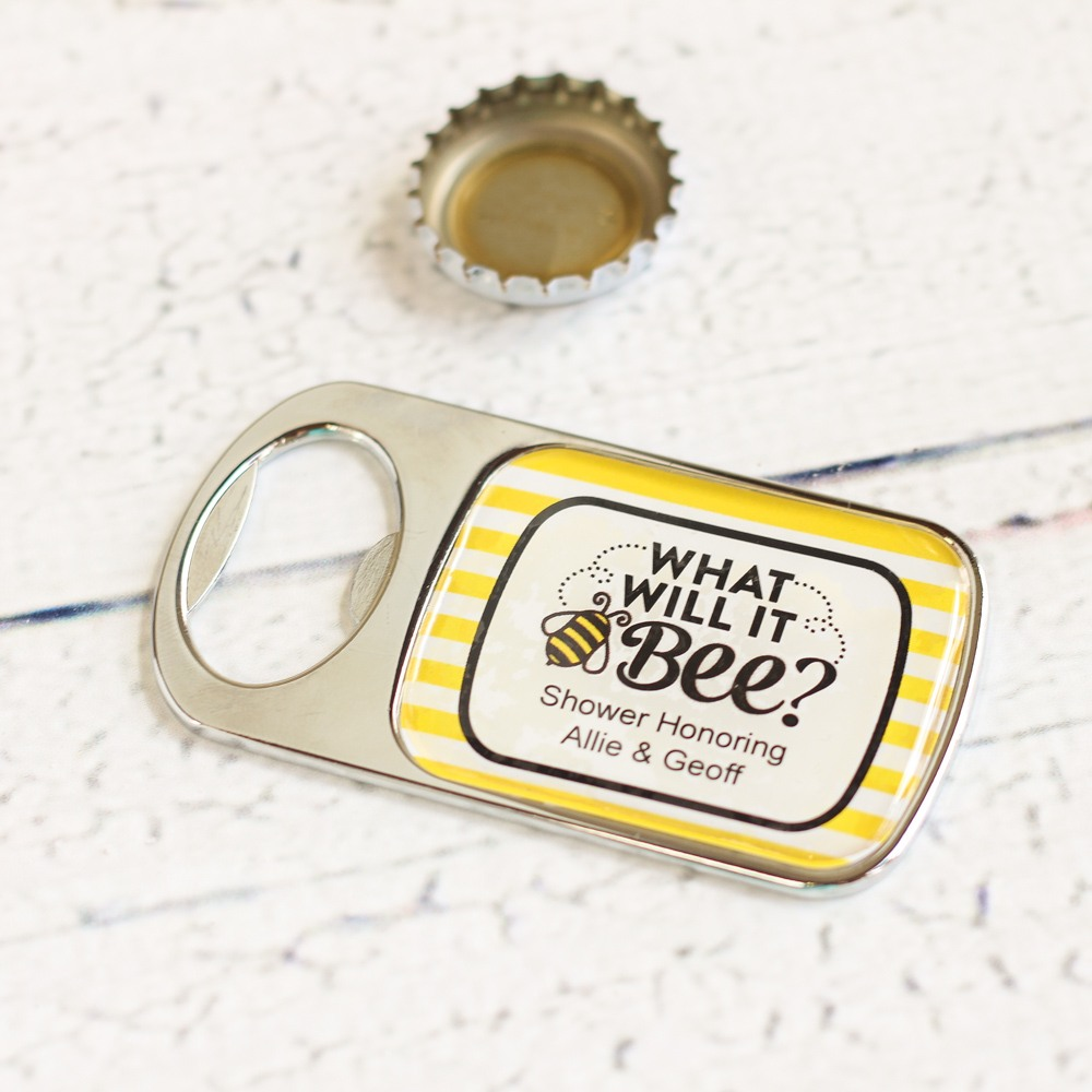 Personalized Bee Reveal Bottle Opener