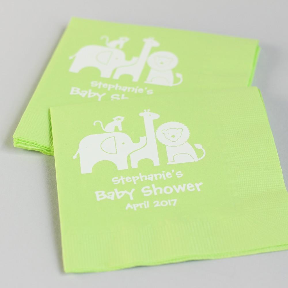Personalized Safari Napkins