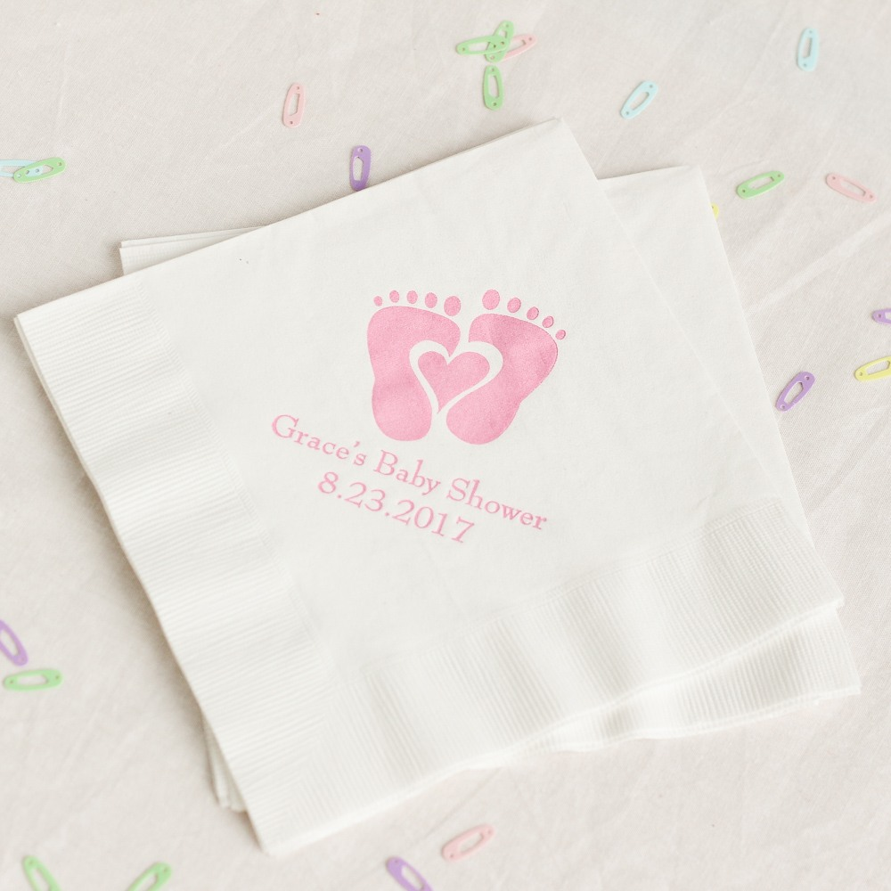 Personalized Baby Feet Napkins