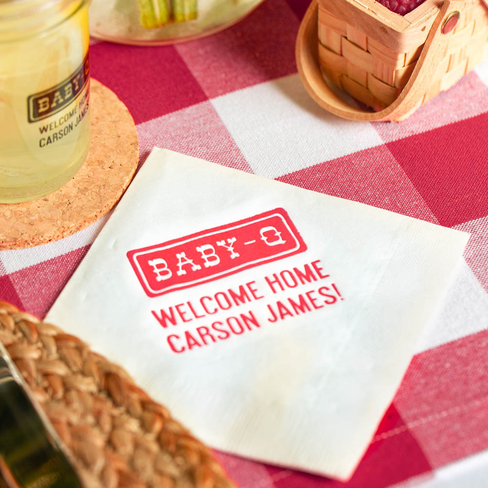 Personalized Baby-q Exclusive Baby Napkins