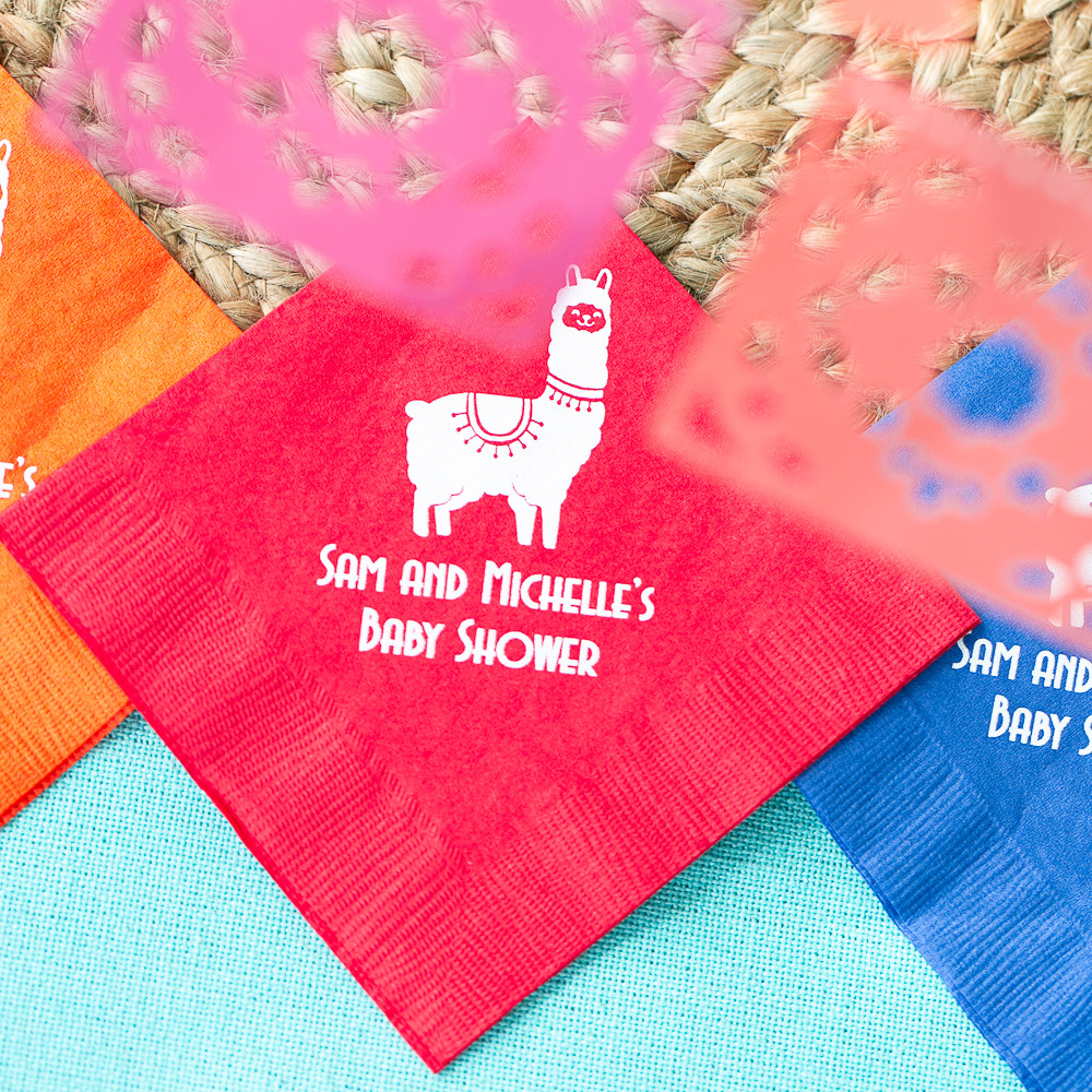 Personalized Fiesta Exclusive Baby Napkins