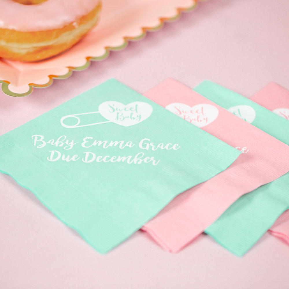 Personalized sweet Baby Exclusive Baby Napkins