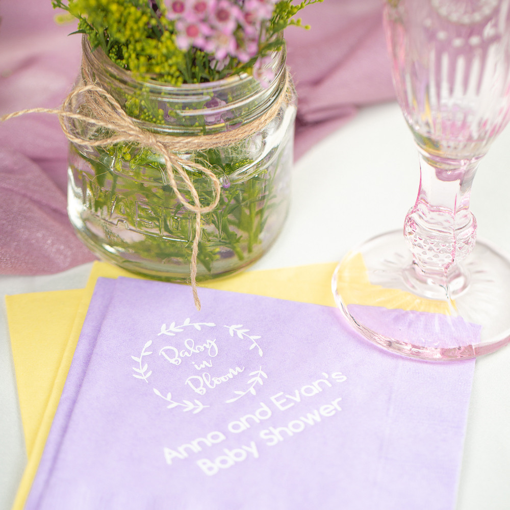 Personalized Baby in Bloom Exclusive Baby Napkins