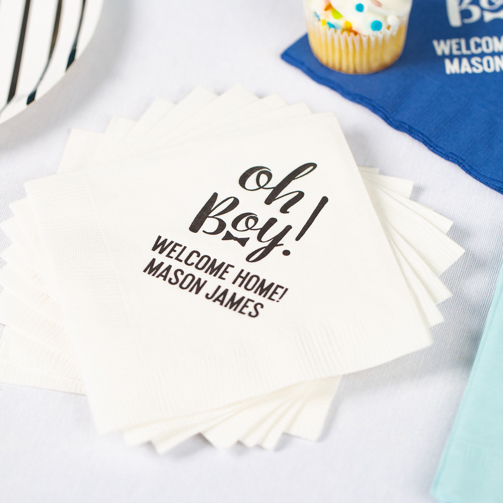 Personalized Oh Boy Exclusive Baby Napkins