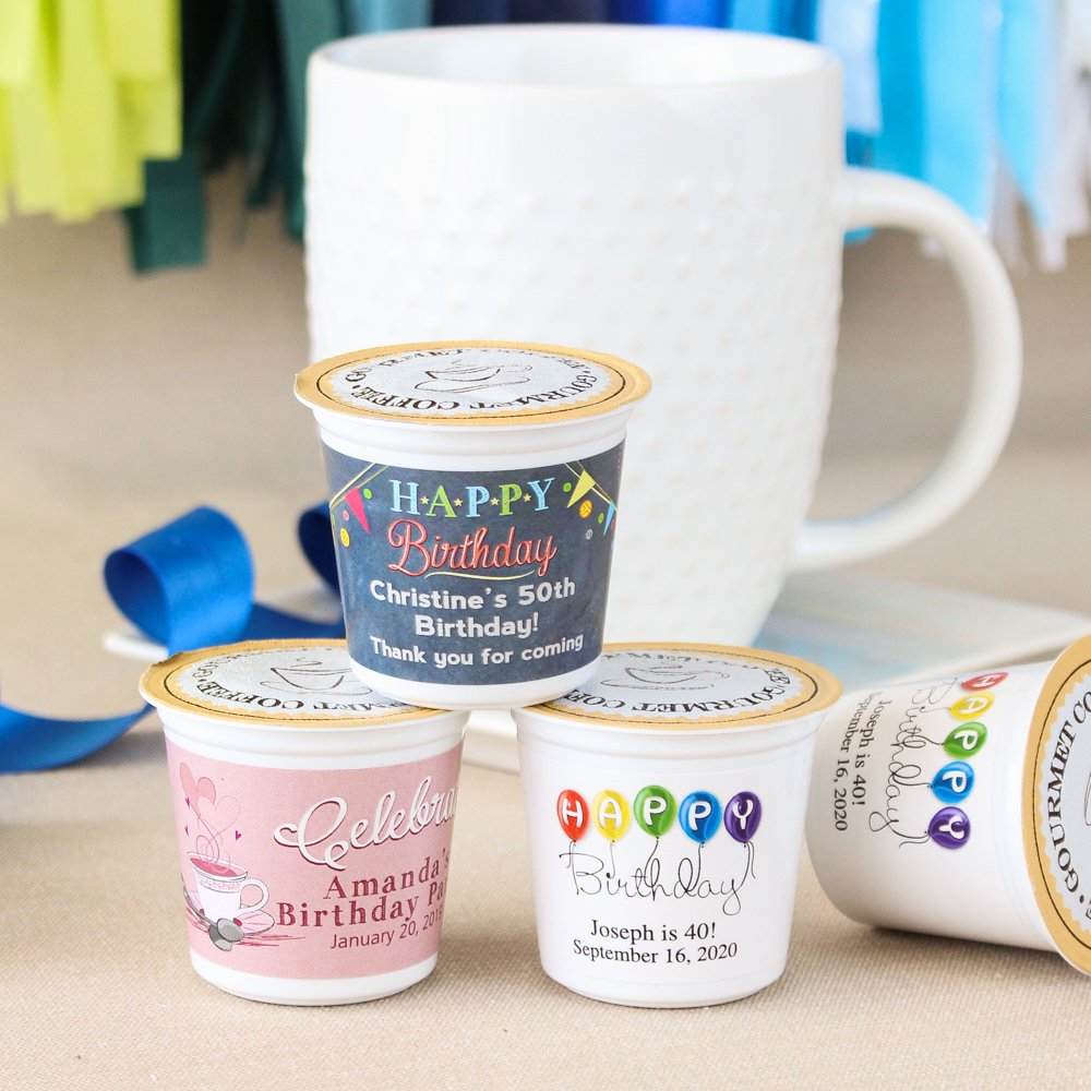 Personalized Birthday K-Cup Coffee Favors 7198