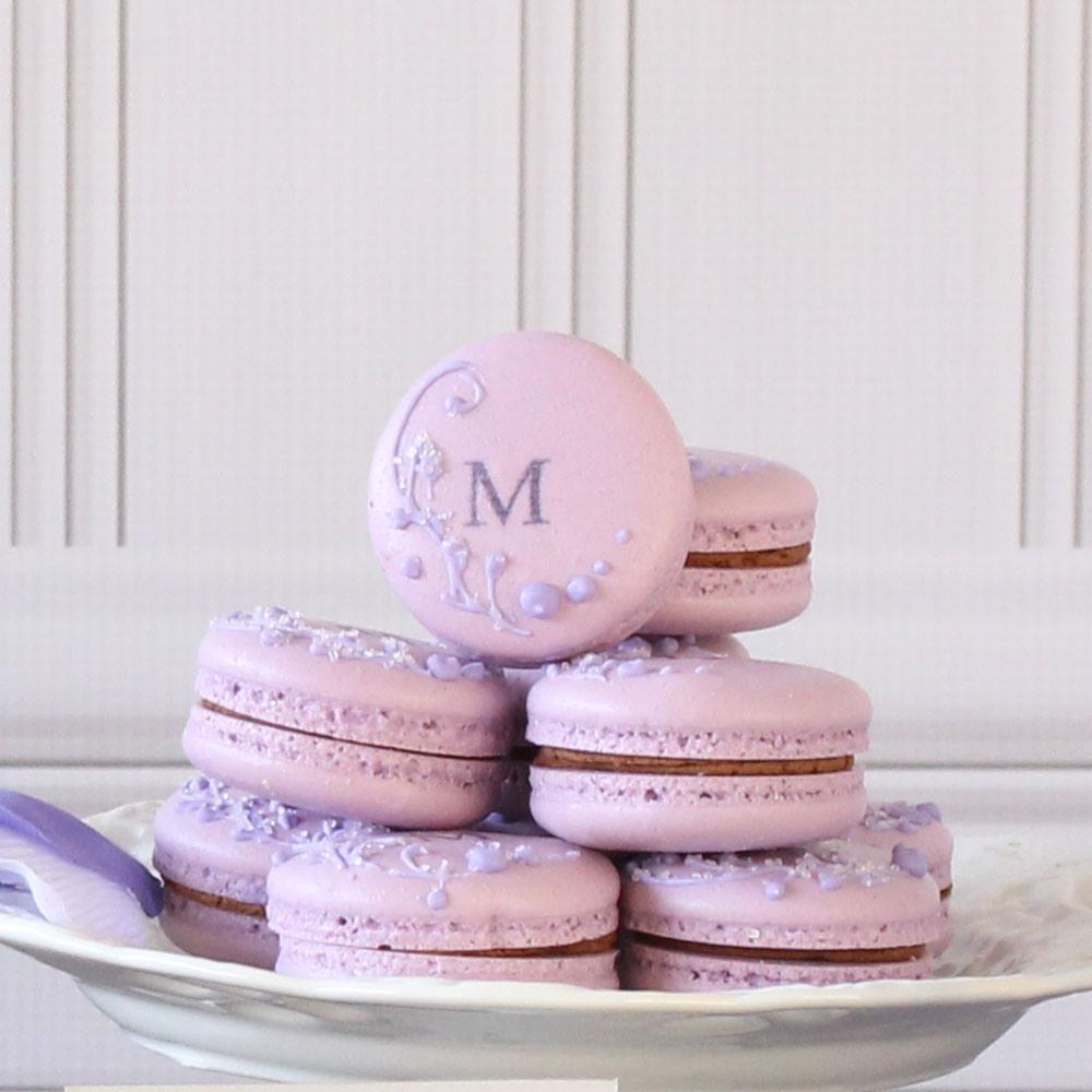 Custom Macarons in Lavender