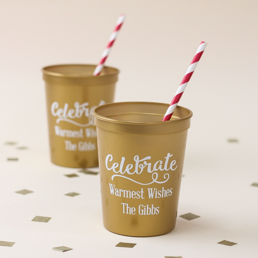 Personalized Holiday Stadium Cups 7319