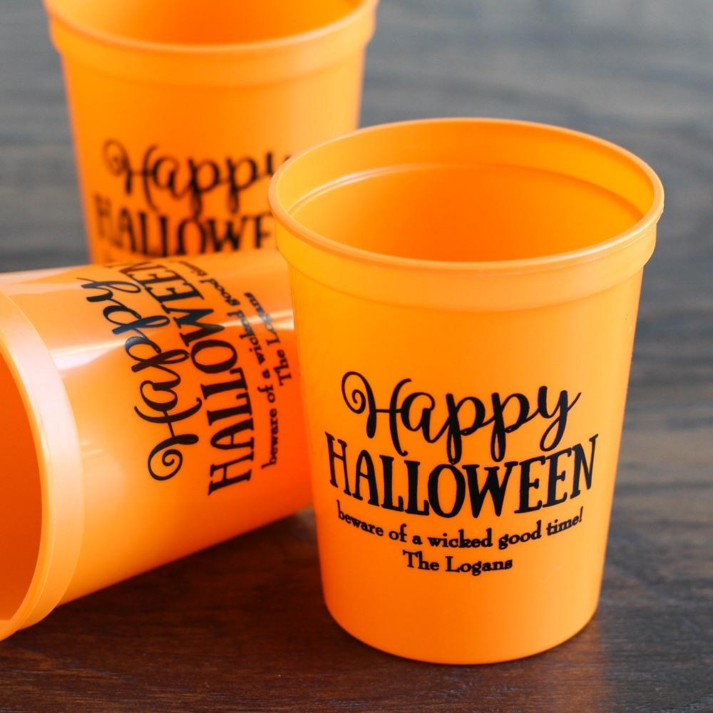 Personalized Halloween Stadium Cups