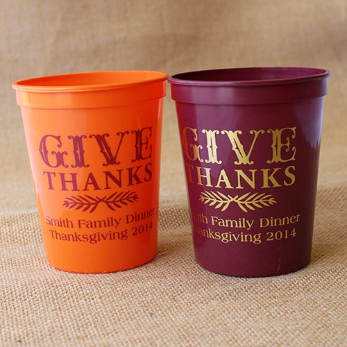 Personalized Thanksgiving Stadium Cups