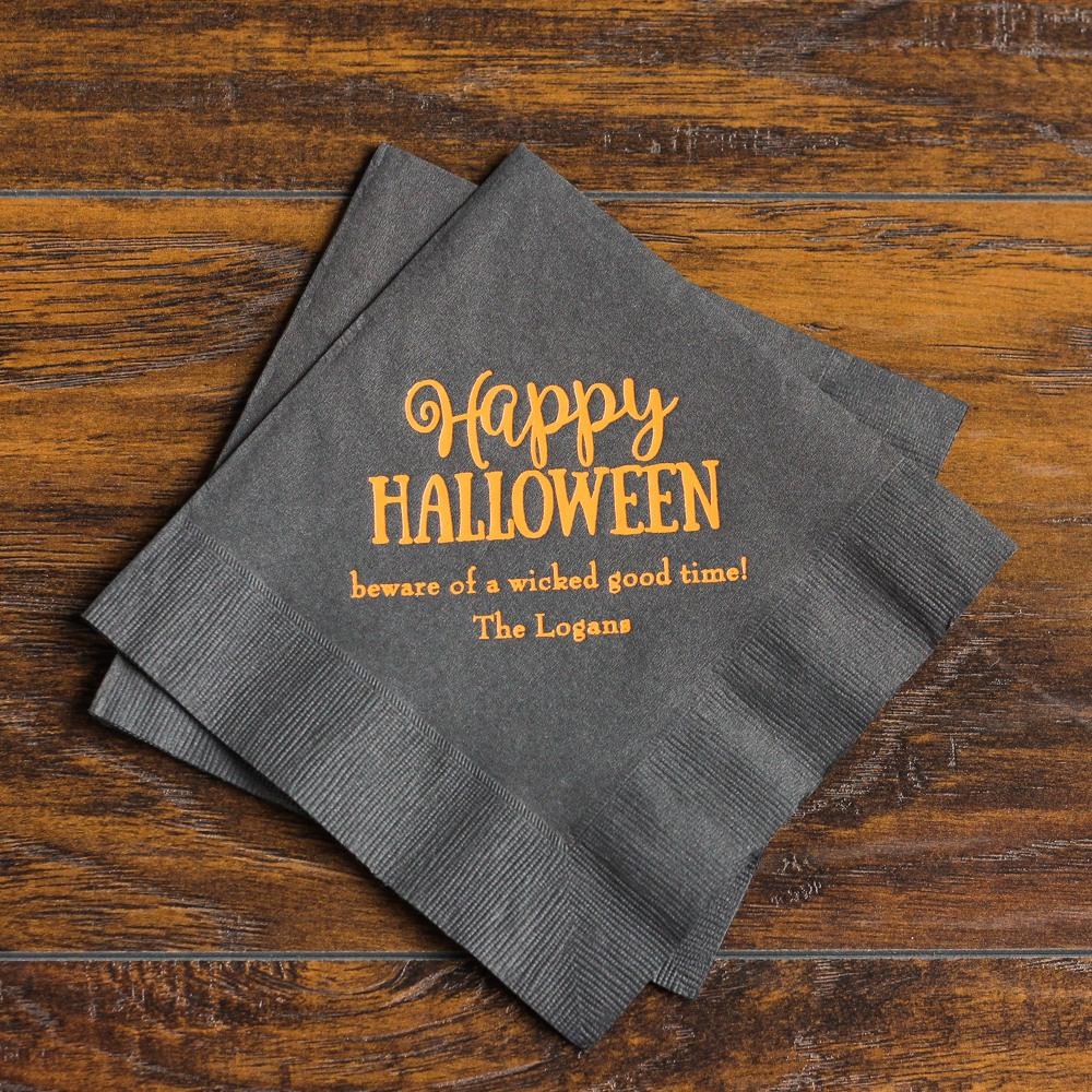 Personalized Halloween Napkins