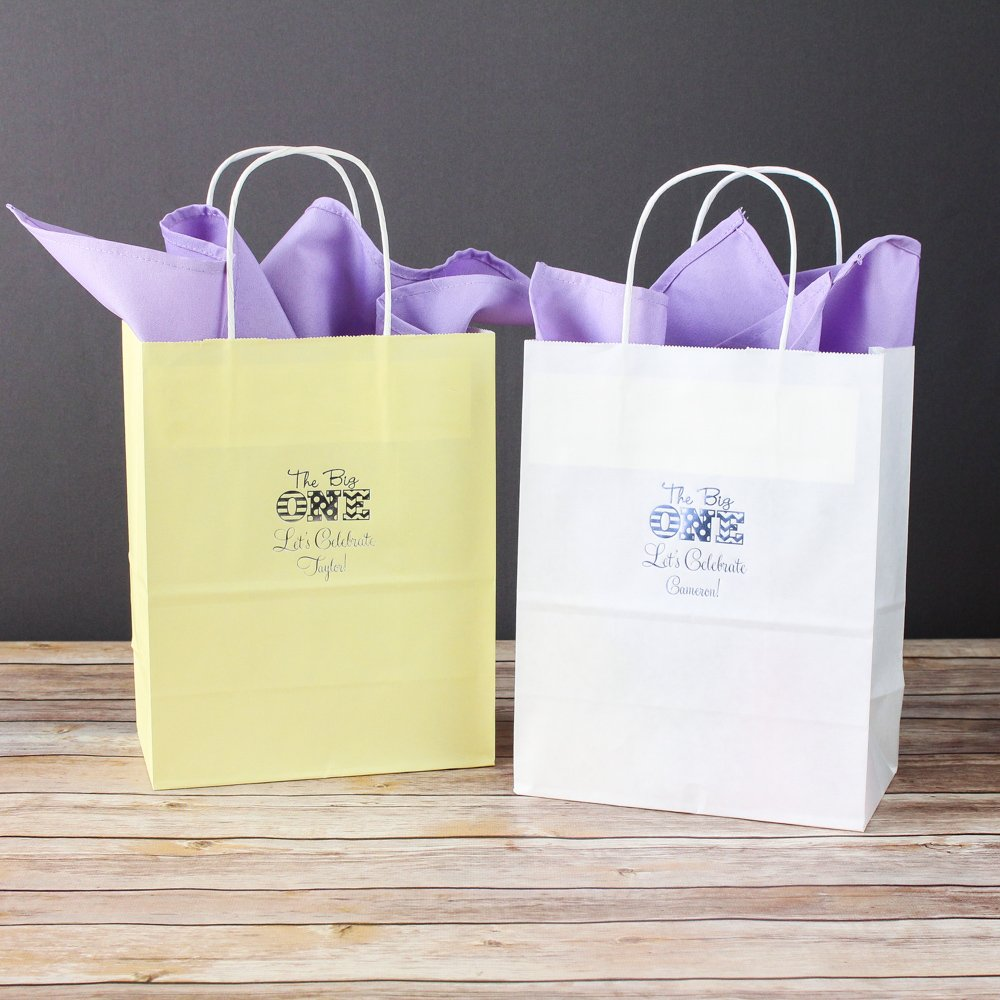 Personalized 1st Birthday Gift Bags
