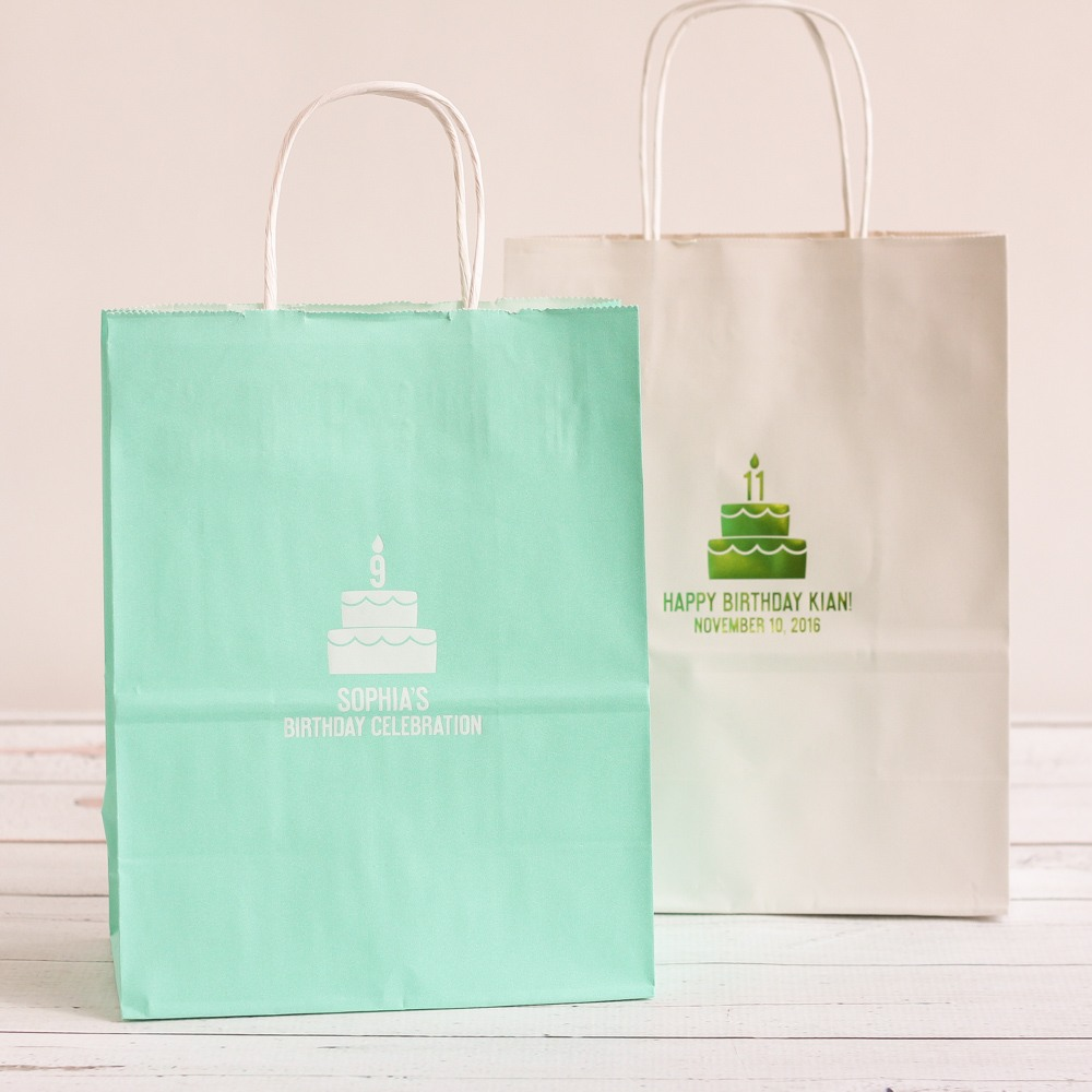 Personalized Birthday Cake Gift Bags