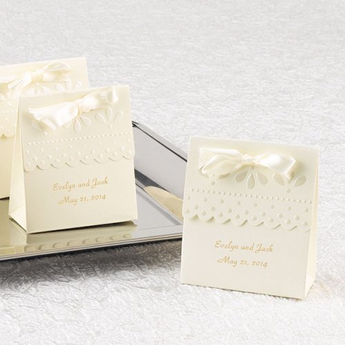 Personalized Scallop Favor Boxes 7352