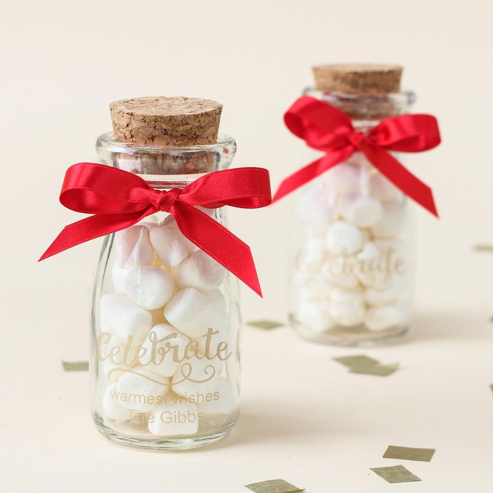 Personalized Celebrate Vintage Milk Jars