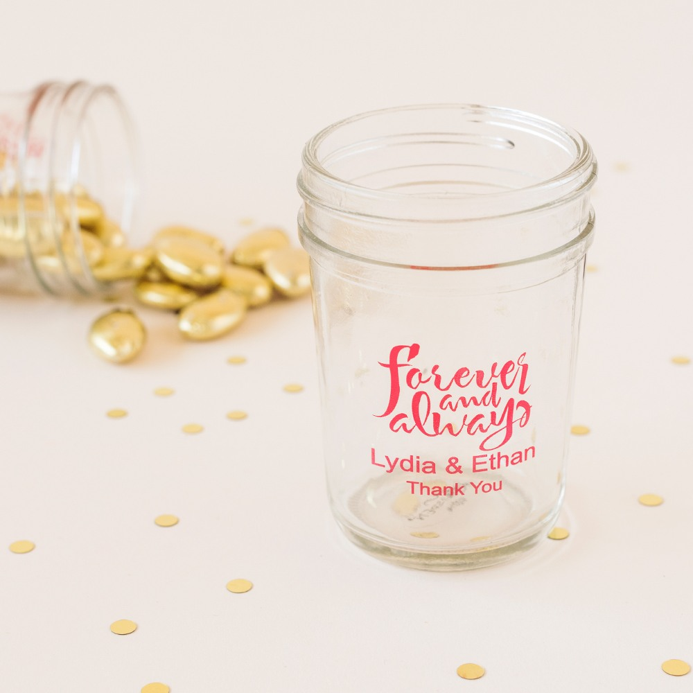 Personalized Forever and Always Mason Jars