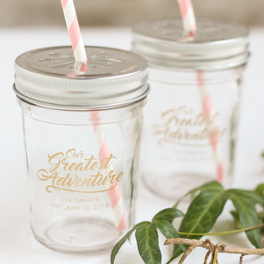 Personalized Greatest Adventure Printed Glass Mason Jar