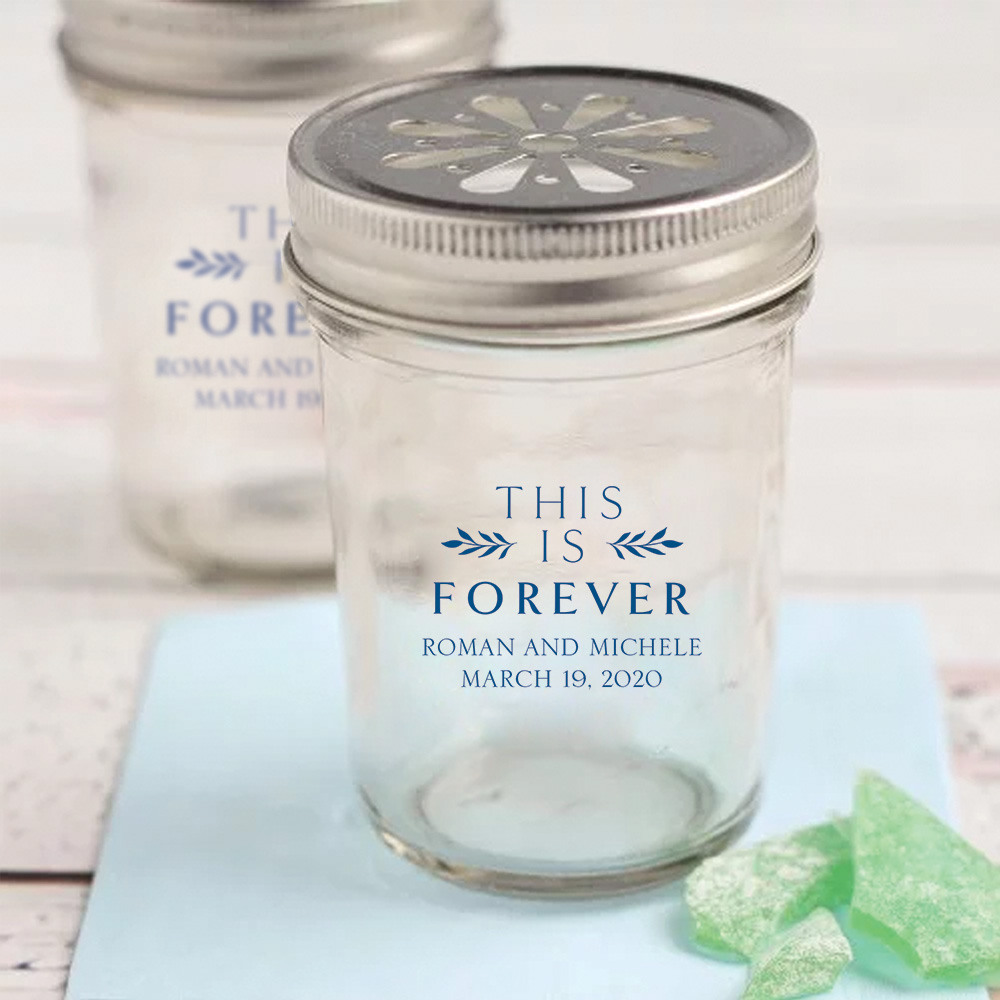Personalized This is Forever Printed Glass Mason Jar