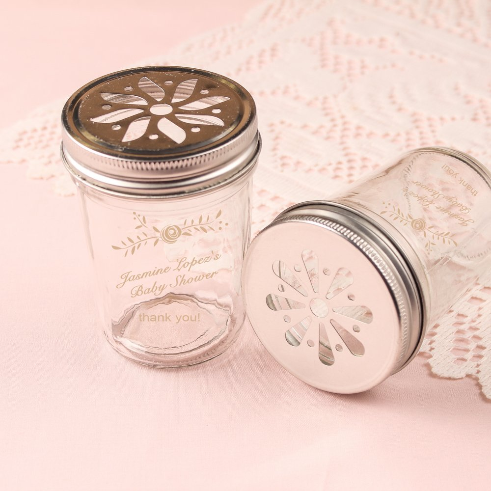Personalized Baby Shower Rustic Themed Mason Jar