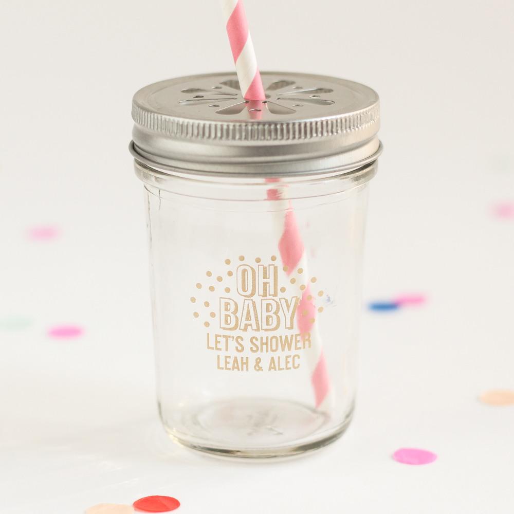 Personalized Oh Baby Mason Jar