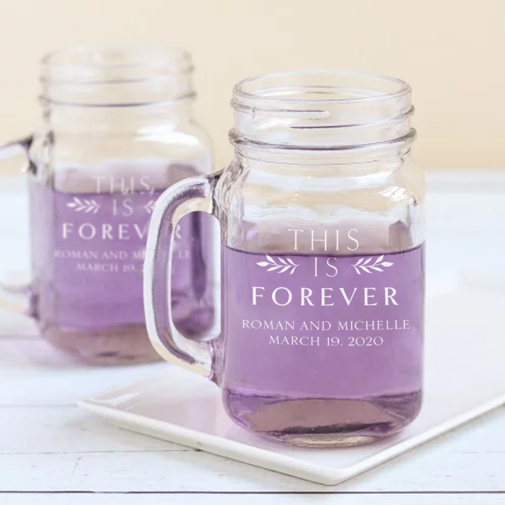Personalized This is Forever Printed Mason Jar Mug