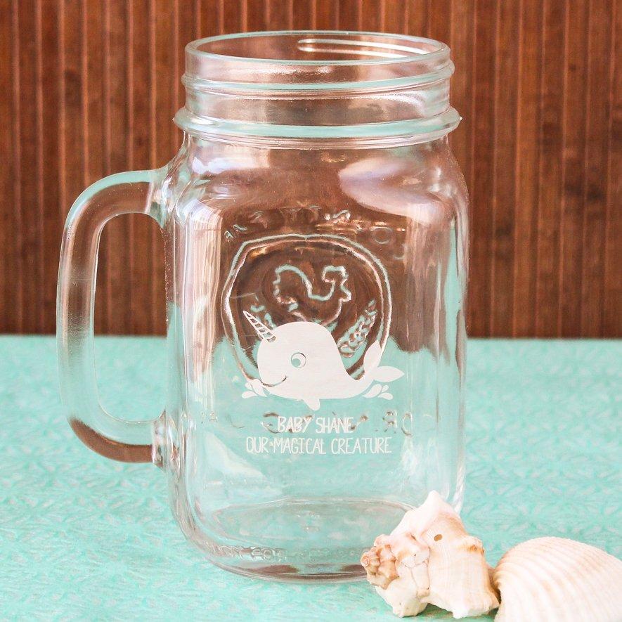 Personalized Printed Mason Jar Mug