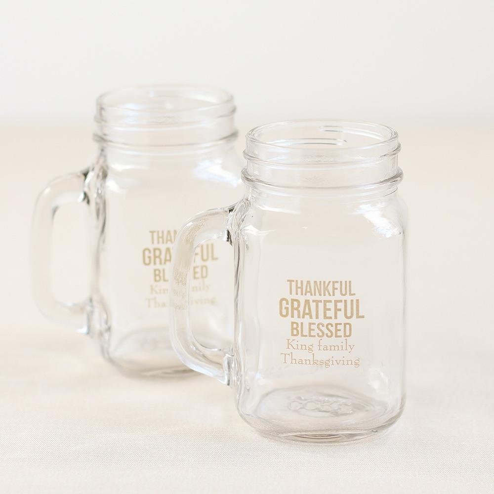 Personalized Party Printed Mason Jar Mug