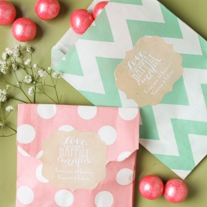 Personalized wedding theme pattern goodie bags
