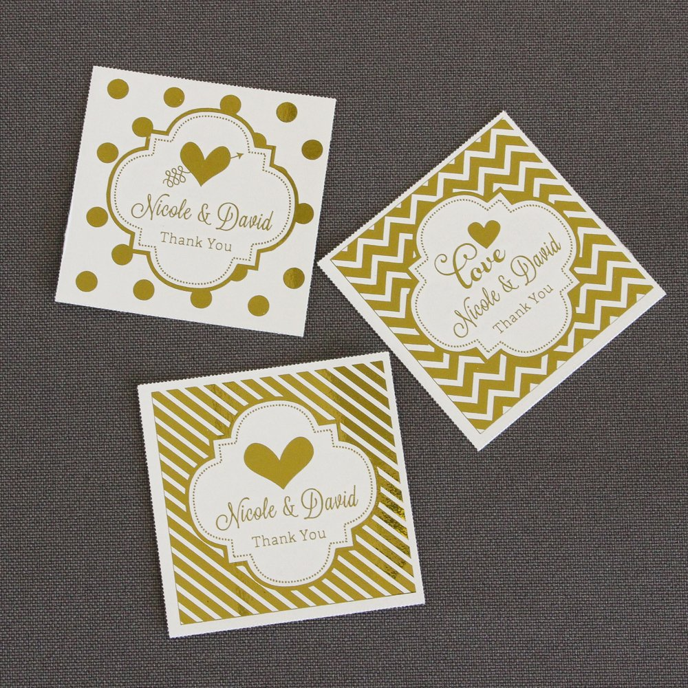 Personalized Metallic Foil Tags