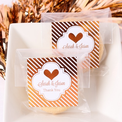 Personalized Metallic Foil Favor Labels