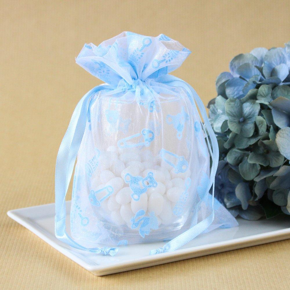 Baby Shower Print Organza Bags 7493