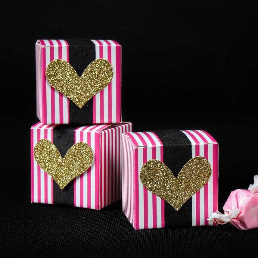 Bachelorette Striped Favor Boxes