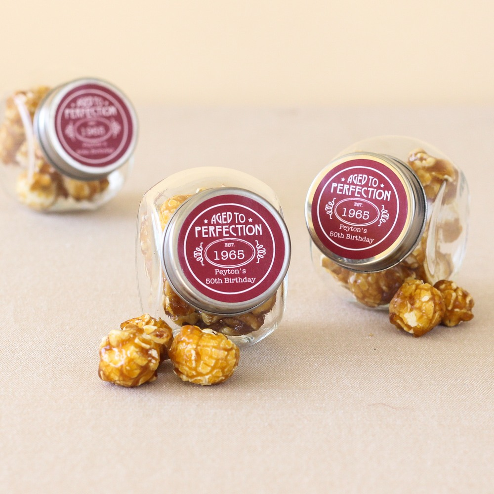 Personalized Milestone Birthday Candy Jars 7532