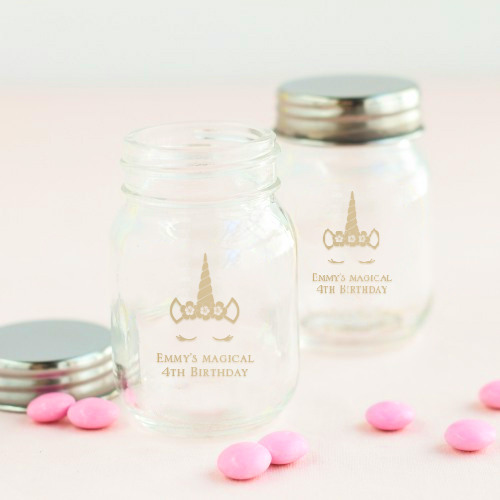 Printed Birthday Mini Mason Jars