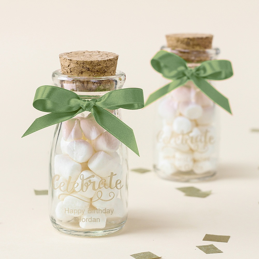 Personalized Printed Birthday Vintage Milk Jars 7555
