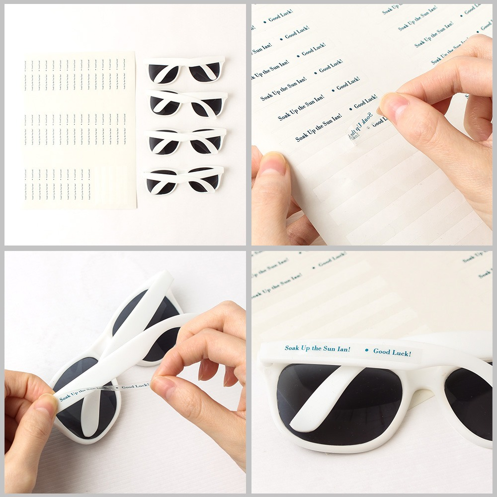 How to Assemble Sunglasses with Personalized Labels