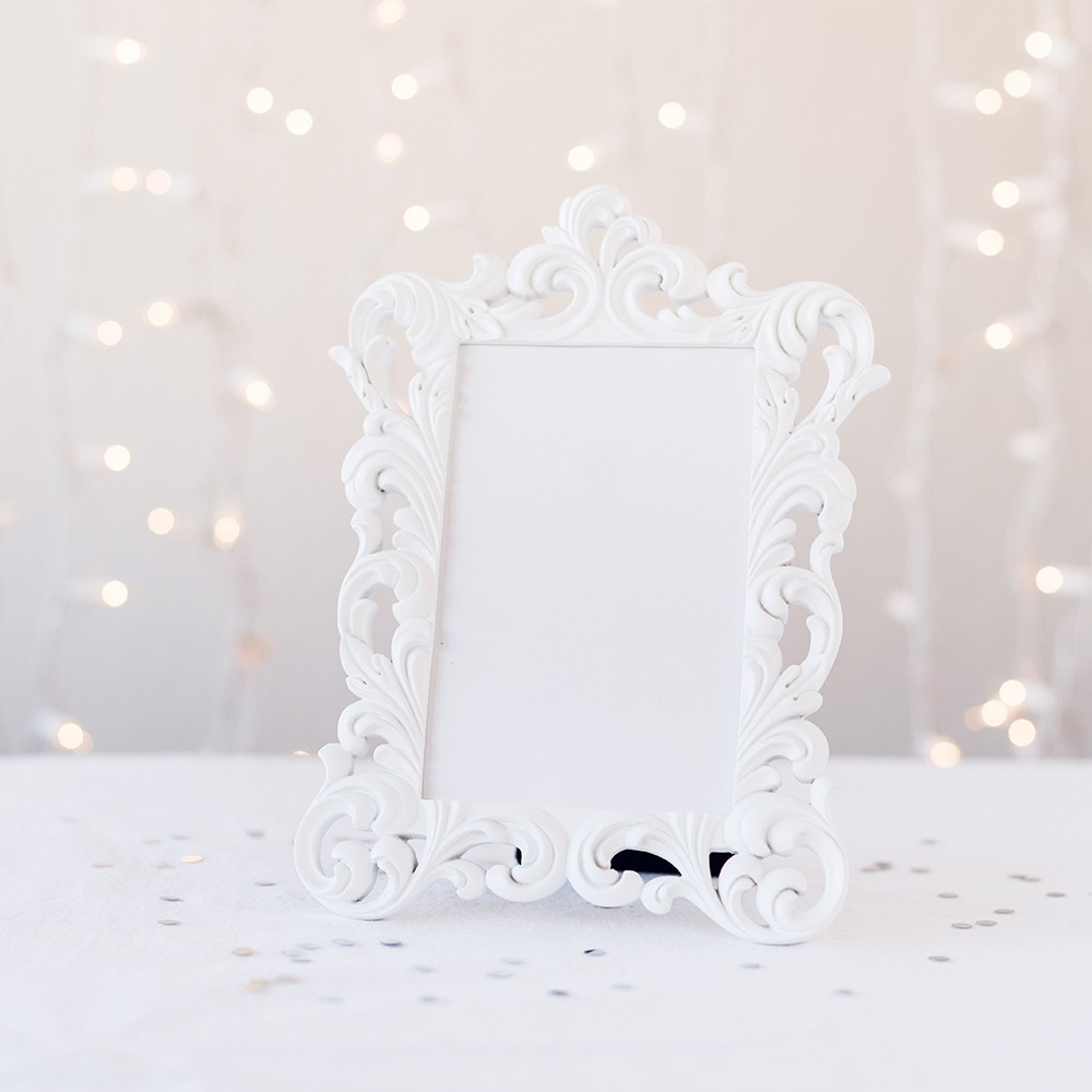 White Vintage Baroque Frame