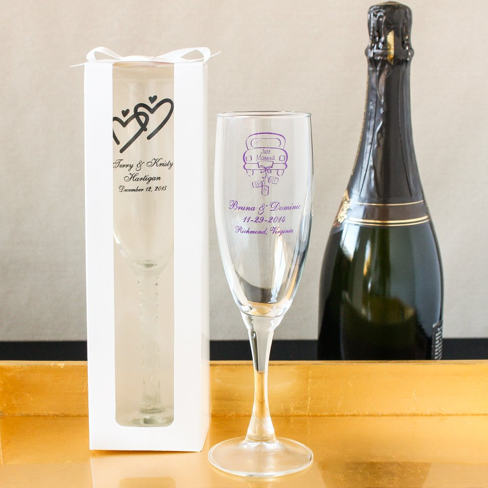 Personalized Champagne Flutes 7599