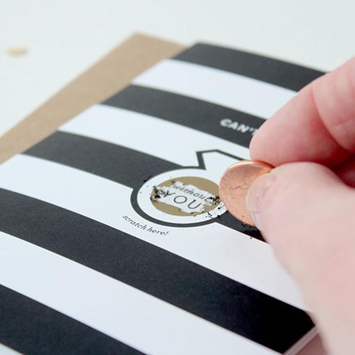 Stripes Scratch Card