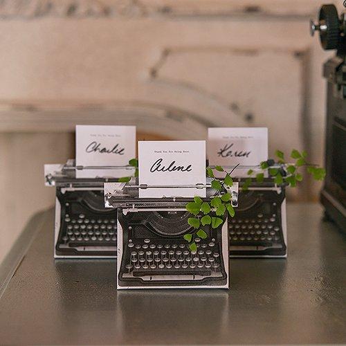 Vintage Typewriter Favor Boxes 7768