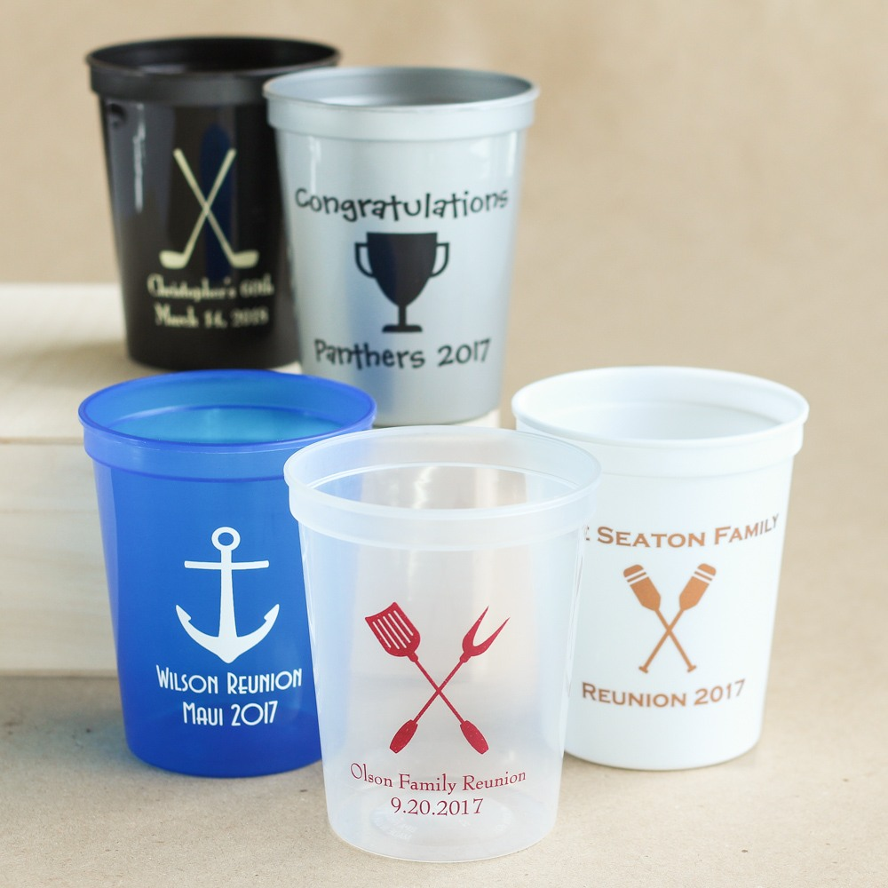 Personalized Exclusive Icon Party Stadium Cups
