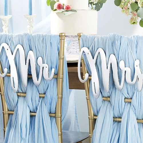 Mr. & Mrs. Chair Sign