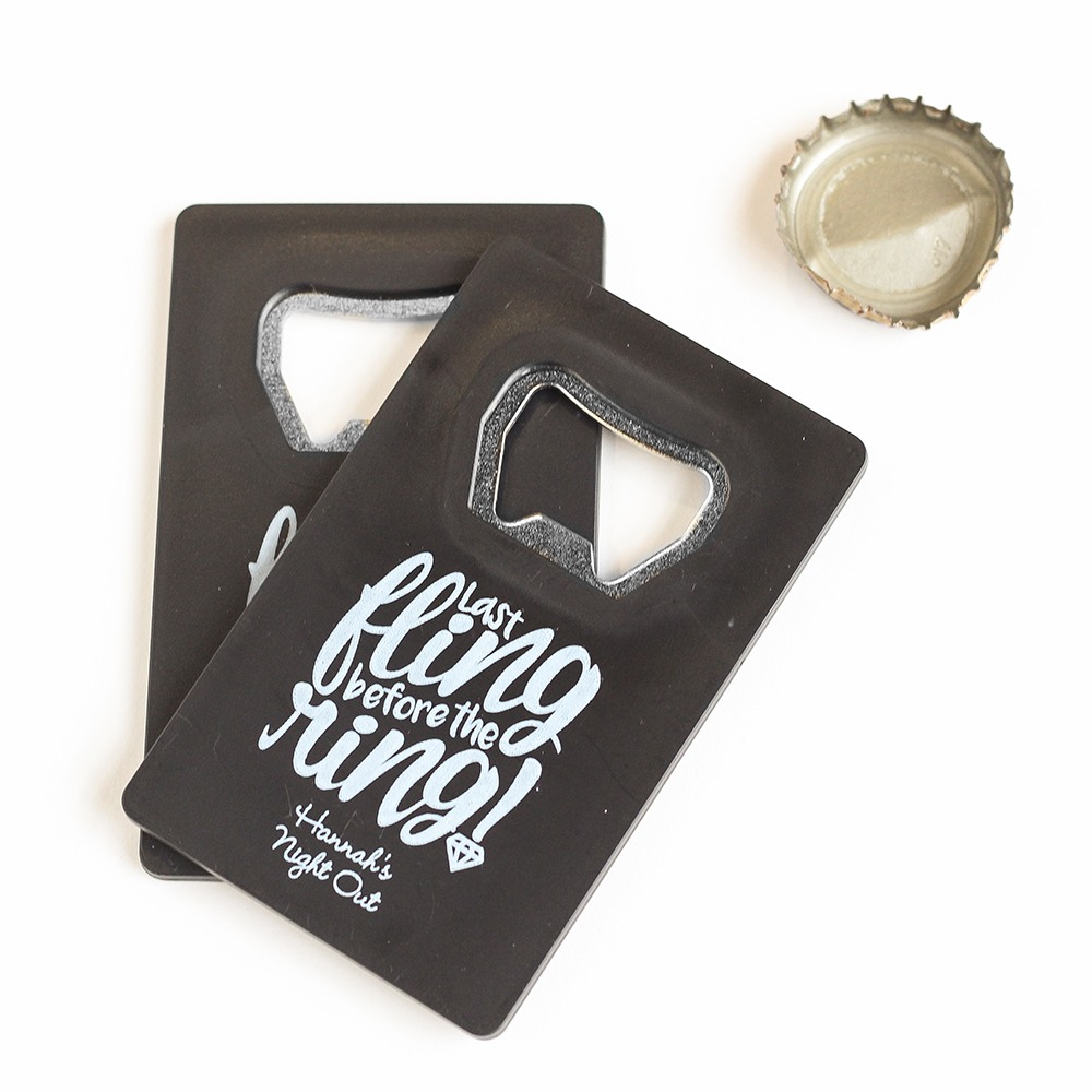 Personalized Last Fling Credit Card Opener