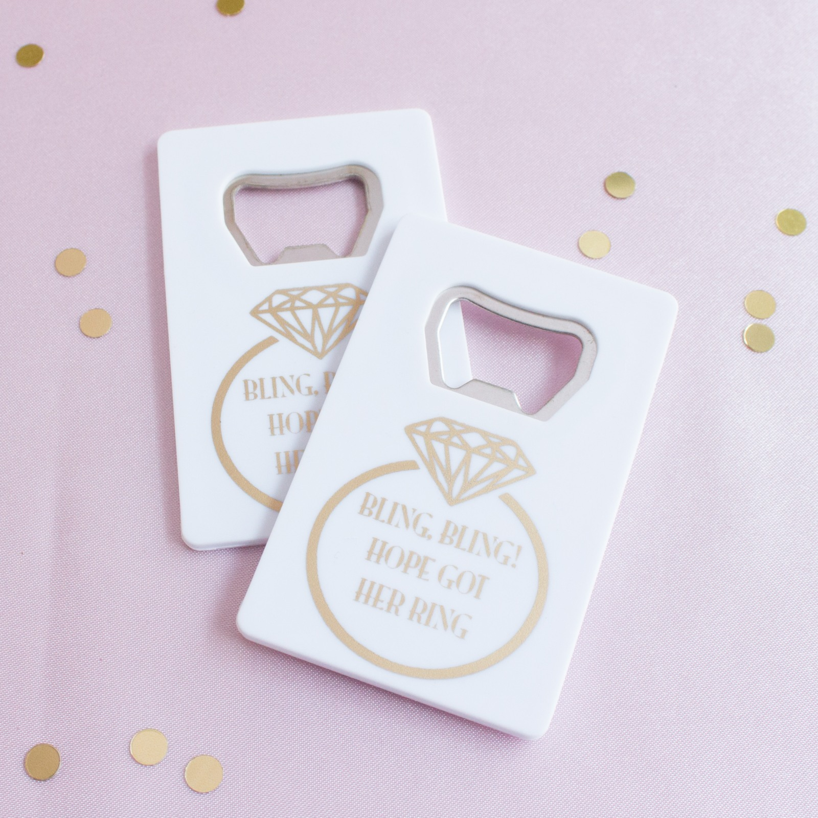 Personalized Ring Credit Card Bottle Opener Favors
