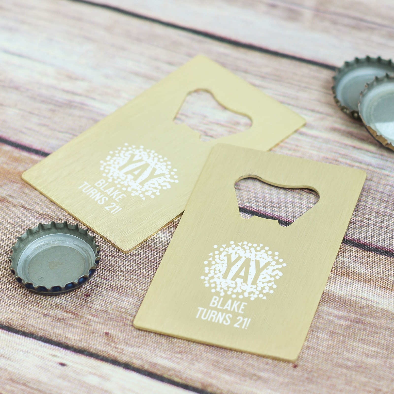 Personalized Birthday Credit Card Bottle Opener Favors 7864