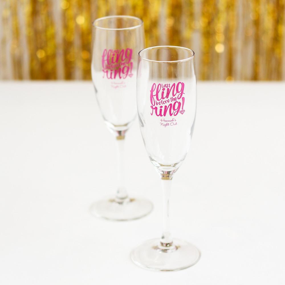Personalized Bachelorette Champagne Flute